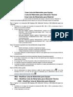 Guía Rápida Procesamiento Lista de Materiales
