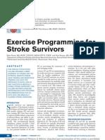 Exercise Programming for Stroke Survivors.11