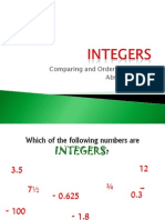 Comparing and Ordering Integers Absolute Value