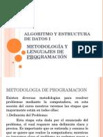 Algoritmo Metodologías Programación