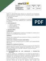 Pr-003 Selección de Proveedores, Compra de Productos y Contratación de Servicios - At