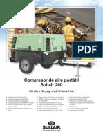 Ficha Compresor Sullair 260 CFM