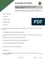 Banco de preguntas para el Concurso Público fase de Oposición, para seleccionar a las Consejeras y Consejeros del Consejo de Participación Ciudadana y Control Social 2015