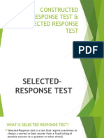 constructed response vs selected response