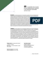 Juan Pedro Urruzola - A propósito de la nueva Ley de Ordenamiento Territorial y sus directrices nacionales