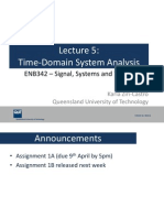 Lecture5 Time Domain System Analysis