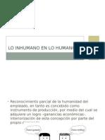 Lo Inhumano en Lo Humano