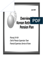 Overview of Korean Retirement Pension Plan