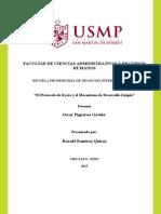 Protocolo de Kyoto y El Mecanismo de Desarrollo Limpio
