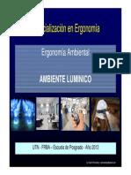 Ambiente Lumínico - Posgrado UTN Ergonomía - 2013 - Duilio Fernández