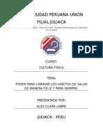 PODER PARA CAMBIAR LOS HÁBITOS DE SALUD DE MANERA FELIZ Y PARA SIEMPRE.