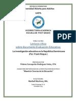 La investigación educativa en la República Dominicana