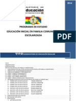 Educación Inicial en Familia Comunitaria Escolarizada