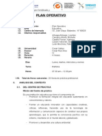 Plan Operativo Escolar. Original