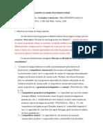 Ponto 5 - O Papel Da Gramática No Ensino de Produção Textual