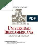 El Divorcio Incausado en México