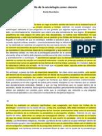 2. Emile Durkheim - El Ámbito de La Sociología Como Ciencia