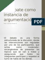 El Debate Como Instancia de Argumentación