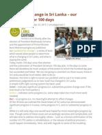 Measuring Change in Sri Lanka – Our Yardstick After 100 Days