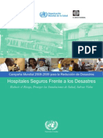 Hospitales Seguros Frente a Desastres