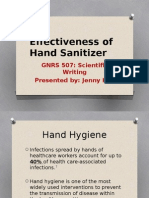 effectiveness of hand sanitizer presentation