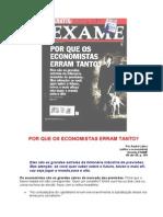 Por Que Os Economistas Erram Tanto