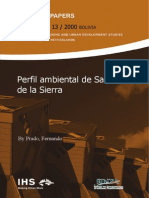 SINPA 13 Prado F (2000) Perfil Ambiental de Santa Cruz de La Sierra