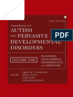 Handbook of Autism and Pervasive Developmental Disorders Diagnosis Development Neurobiology and