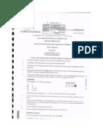 Cape Physics 2014 Unit 2 Paper 1