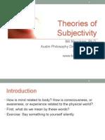 Theories of Subjectivity