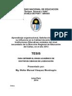 Tesis Doctoral índice, variables de estudio.