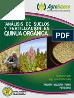 140 Cultivo Quinua - Análisis Suelo y Fertilización