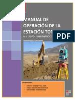 Manual de Operacion de Estacion Total ...
