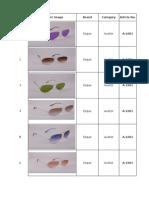 Esque Sunglasses Product Sheet