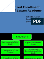 Computerized Enrollment System of Lasam Academy