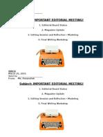 editorial meeting