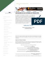 Indicadores de Producción - Ingeniería Industrial