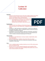 Lecture 14 (Latin Jazz)