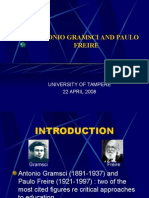 Antonio Gramsci and Paulo Freire