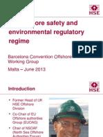 UK Offshore Regulatory Regime - Barcelona Convention Offshore WG - June 2013
