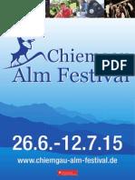 Chiemgauer Almfestival 2015