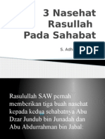 3 Nasehat Rasullah