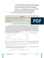 On an Optimal control Problem for Parabolic Equations