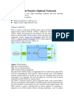 ONT, OLT and MDU in GPON Technology