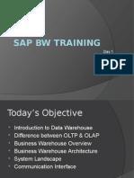 SAP BW Training-Day1