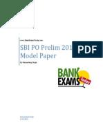 SBI Prelim Model Paper (1)