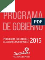 Programa Electoral Elecciones Municipales 2015 Collado Villalba