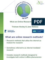 What Are Online Research Methods - ESRC RM Festival_TH&JW
