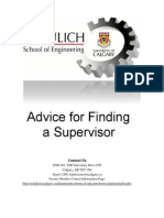 Advice Finding a Supervisor 2
