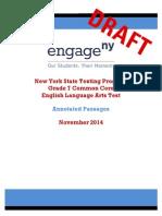 2014 Ela Grade 7 Sample Annotated Passages